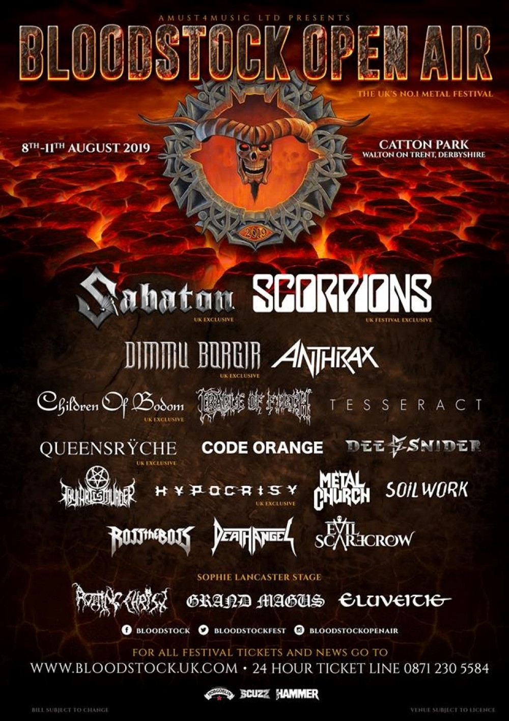 BLOODSTOCK announces another four for 2019!