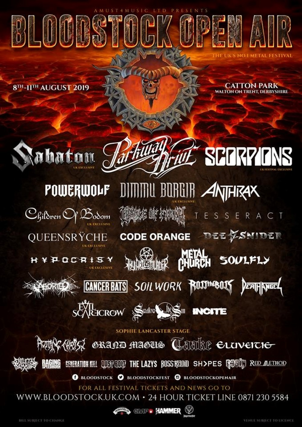 BLOODSTOCK REVEAL SEVEN MORE BANDS & THIRTEEN MORE COACH PICK-UPS