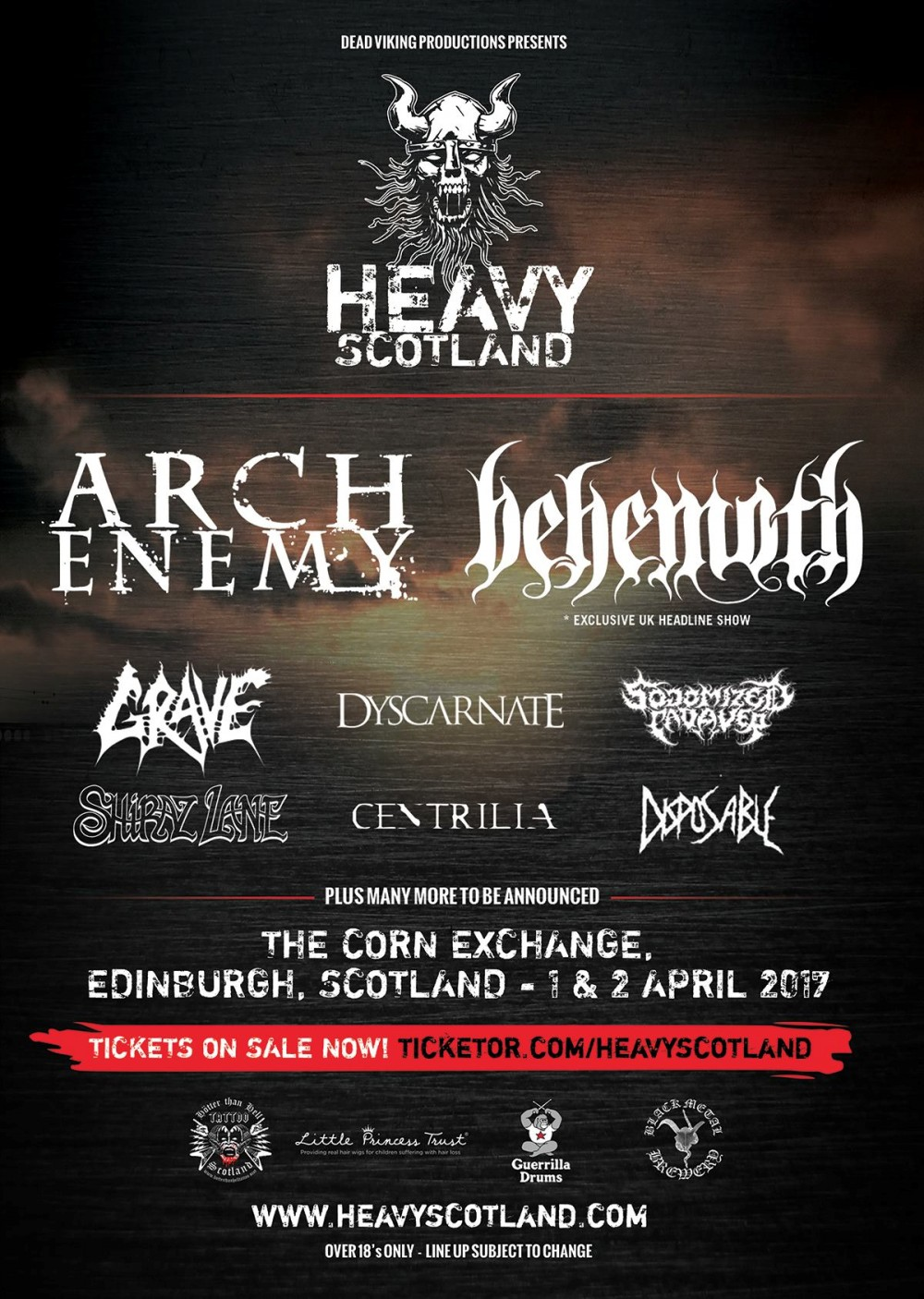 HEAVY SCOTLAND announces second wave of bands!