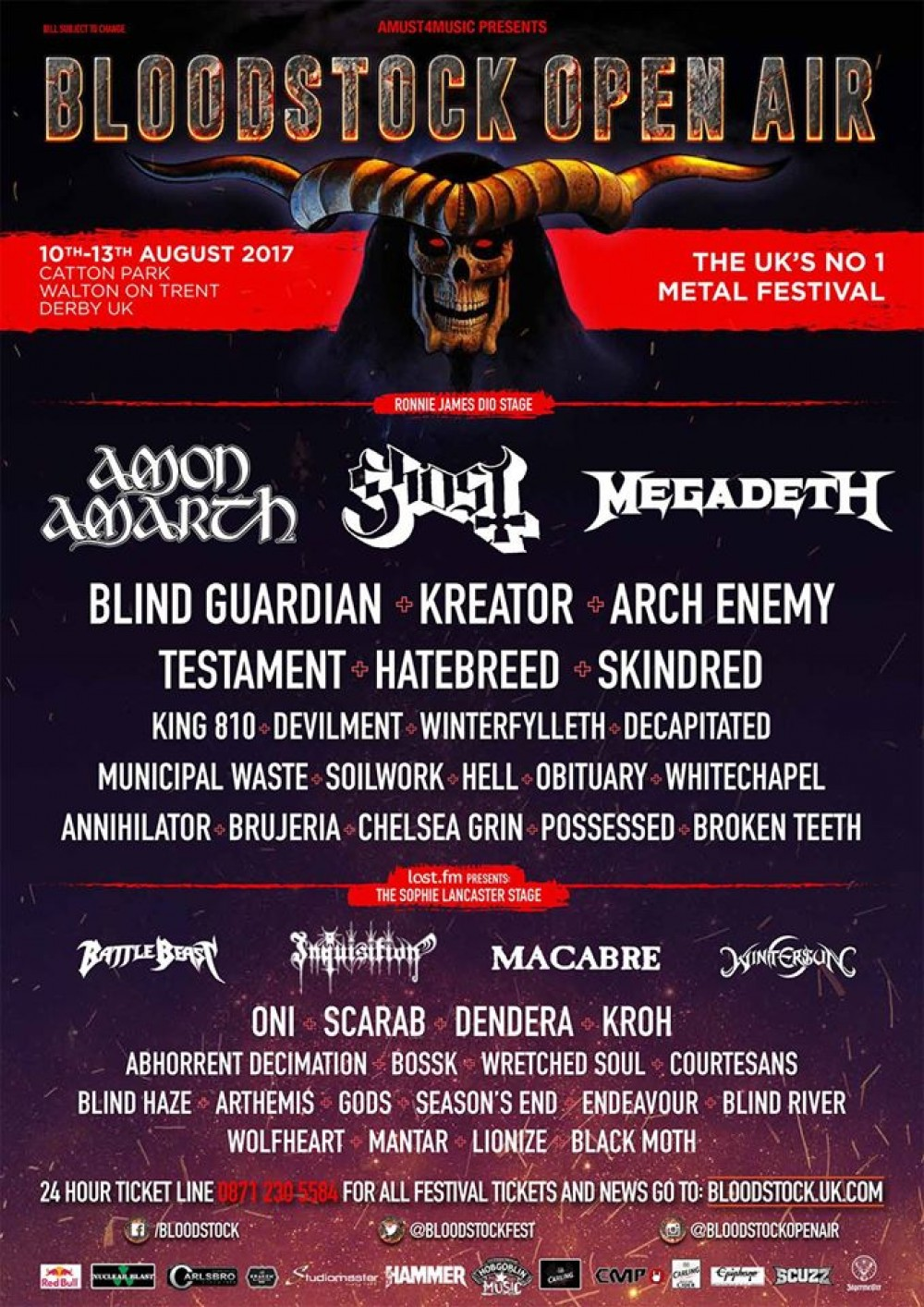 Bloodstock 2017 -announce 10 more bands
