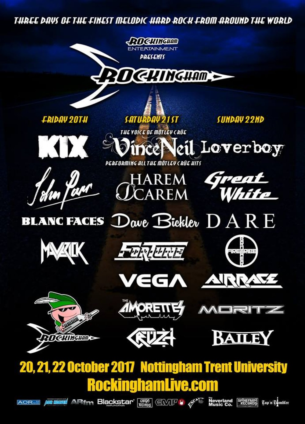 Rockingham Festival 2017 - John Parr added to the final Line-up for Rockingham 3!