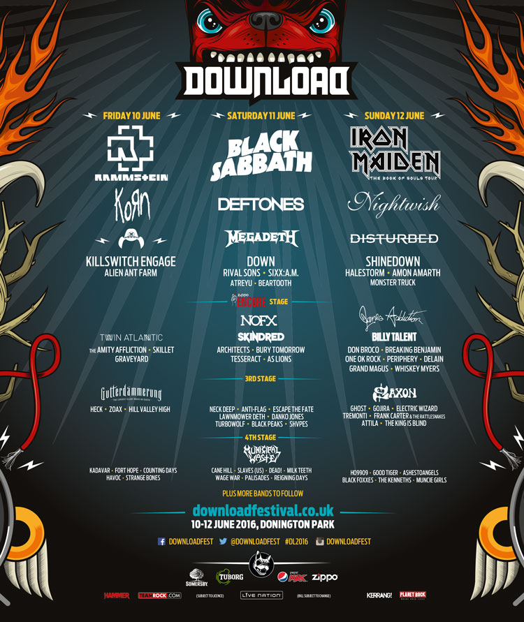 Download festival 2016 lineup -  nemetas. Aufgegabelt. Info.